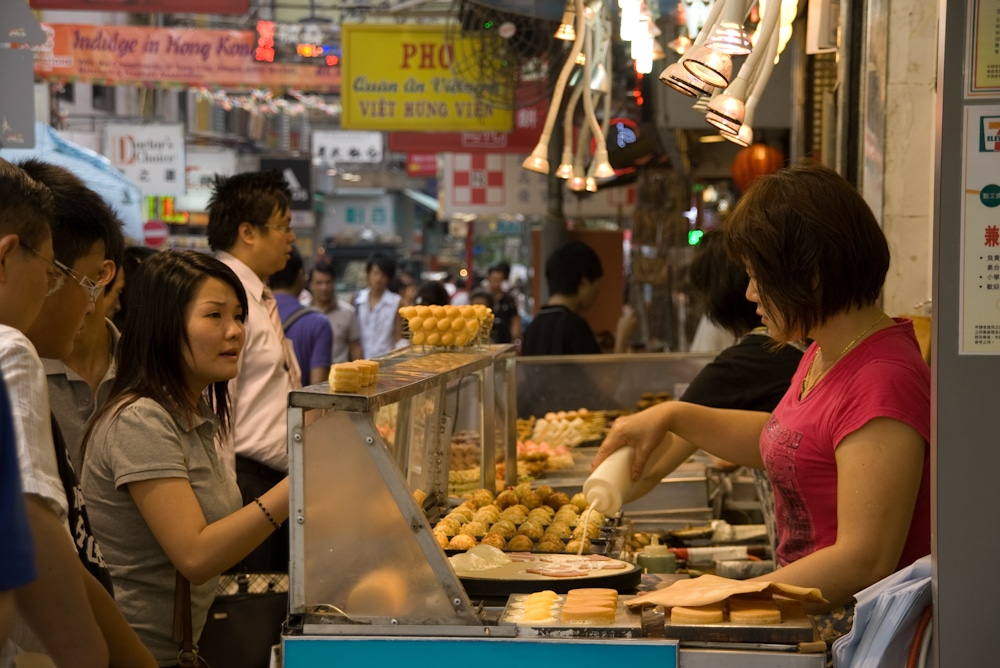 Garküche in Hong Kong Kowloon