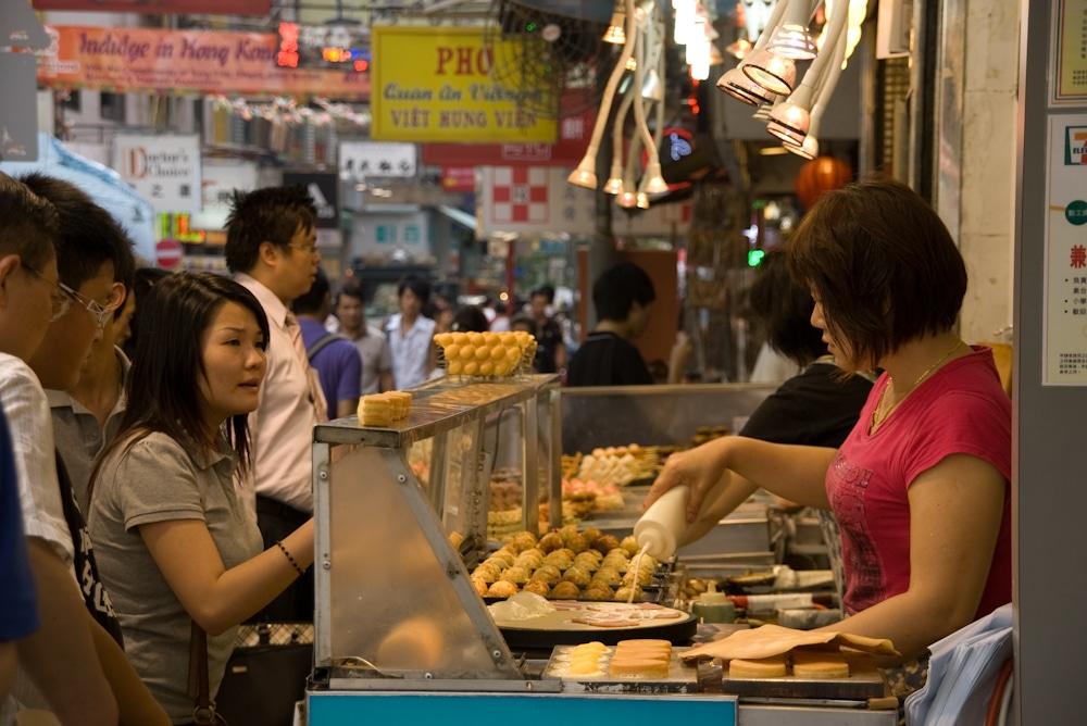 Garküche in Hong Kong Kowloon