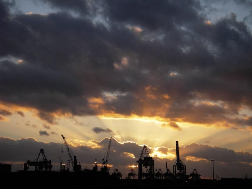 Engelsrutschen am Hamburger Hafen