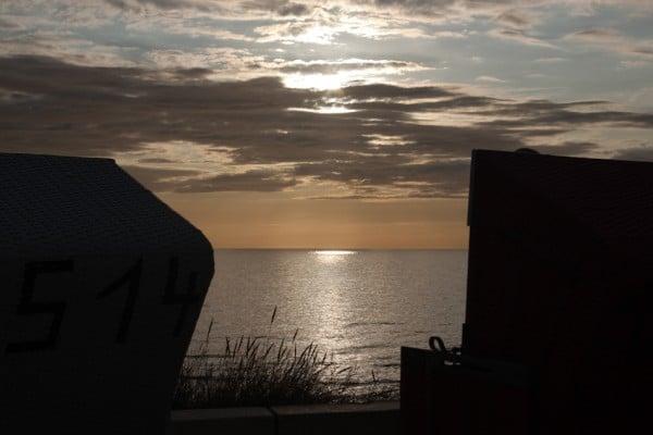 Sonnenuntergang fotografieren Strandkörbe