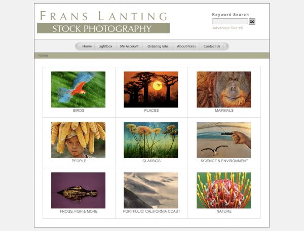 Website von Frans Lanting