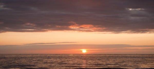 Sonnenuntergang in Wenningstedt bei Gosch