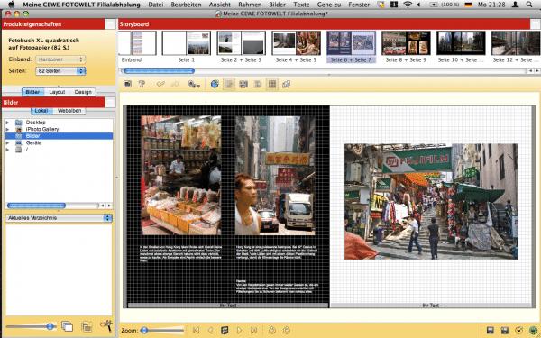 Fotobuch Doppelseite mit der Software von CEWE FOTOBUCH