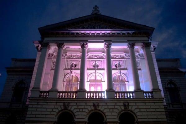 Staatstheater Oldenburg bei Nacht