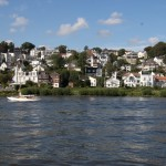 Blick von der Elbe auf Blankenese