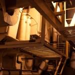 Treppenaufgang aus dem Maschinenraum zum Deck