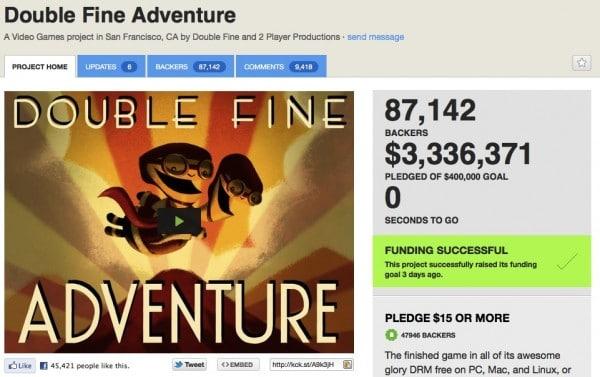 Double Fine auf Kickstarter.com