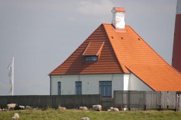 Nebengebäude des Westerhever Leuchtturms