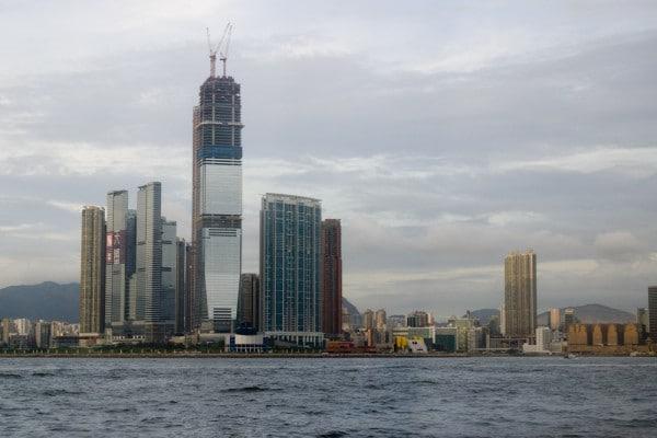 Blick auf Kowloon