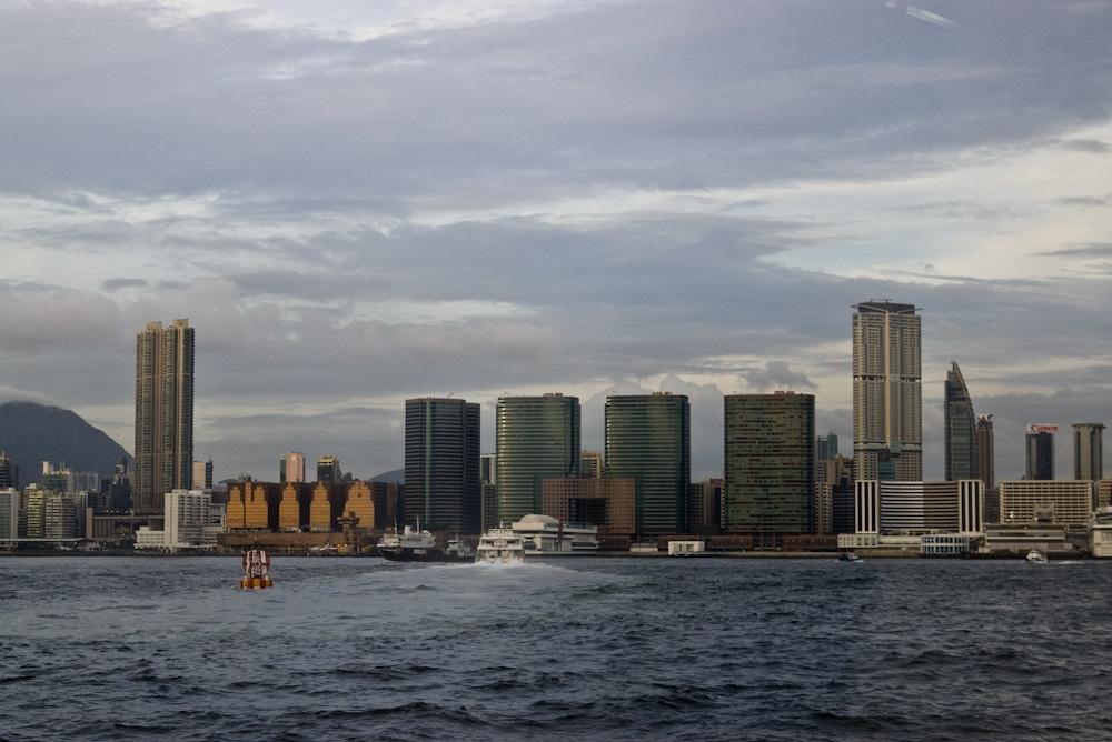 Blick auf Kowloon von Hong Kong Island