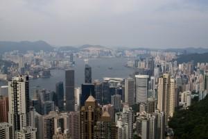 Blick vom Victoria Peak in Hong Kong
