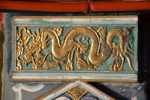 Wong Tai Sin Temple Drachen als Verzierung