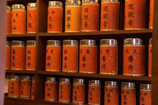 Chinesischer Tee in Hong Kong