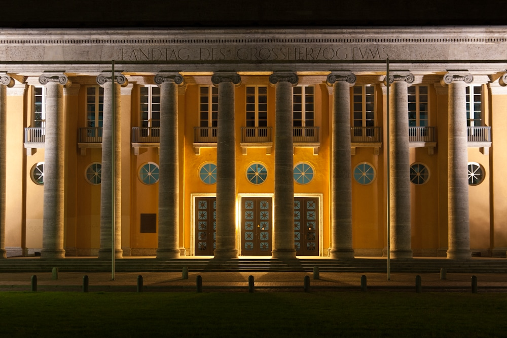 Alter Landtag in Oldenburg bei Nacht