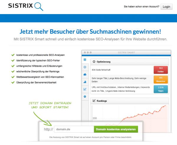 SISTRIX Smart - kostenlose SEO-Analysen und Website-Check 2013-02-15 09-08-09