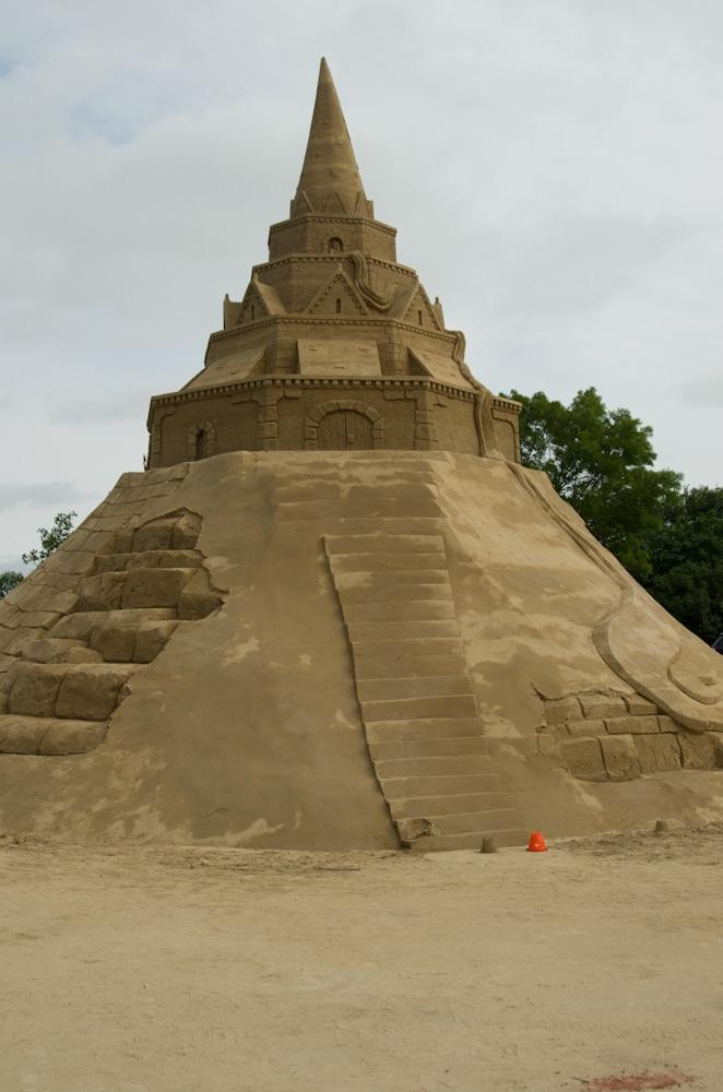 Grösste Sandburg der Welt in Sankt Peter-Ording