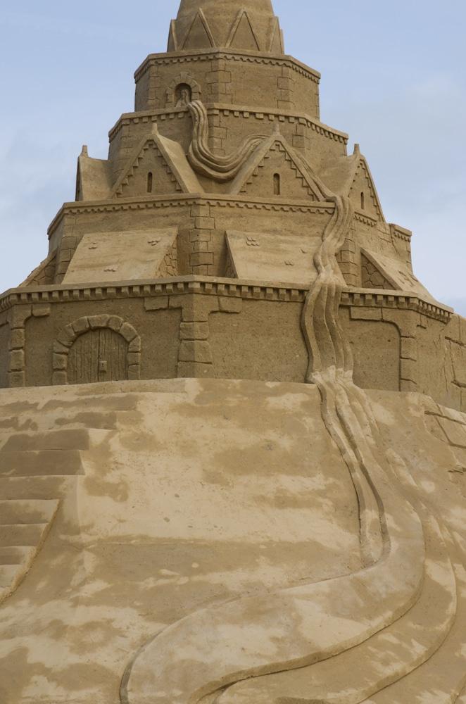 Die größte Sandburg der Welt in Sankt Peter-Ording mit 12,30 Meter Höhe