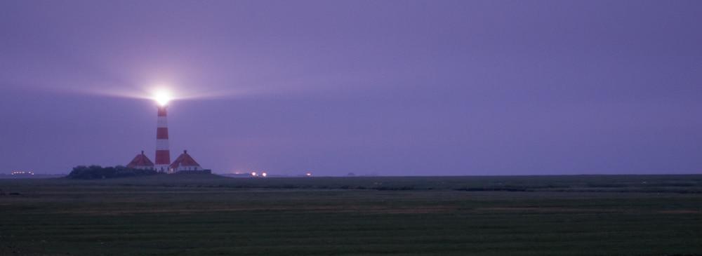 Leuchtturm Westerhever (Westerheversand) bei Sonnenaufgang