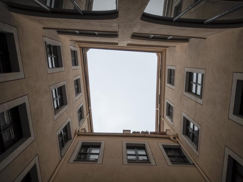 Innenhof der Kunsthandwerker-Passagen