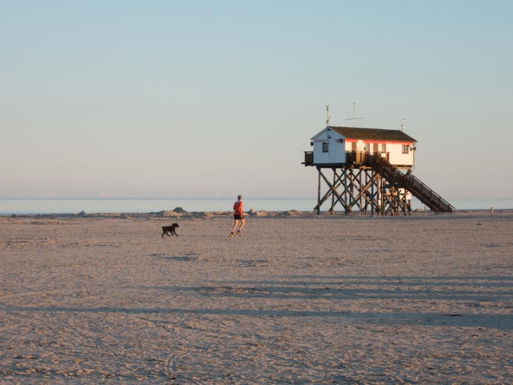 Strandabschnitt Ording bei Sonnenaufgang - menschenleer