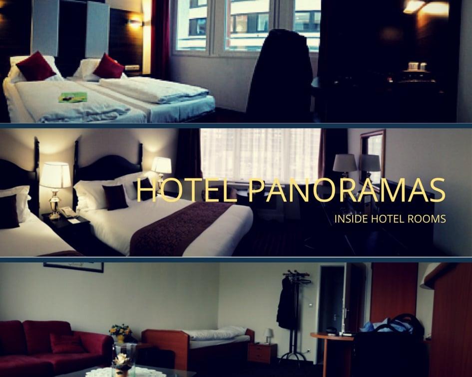 Panorama-Aufnahmen von Hotelzimmern