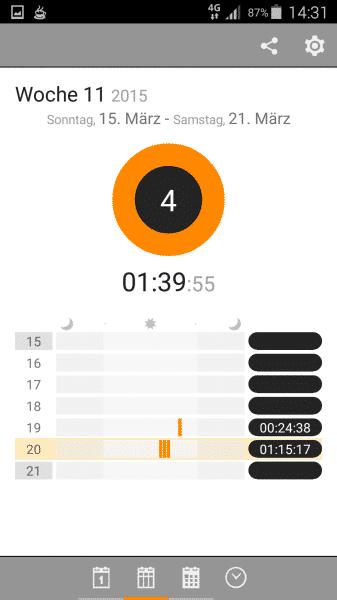 Pomodoro auf Android mit Clockwork Tomato