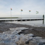 Eisschollen am Strand von Dangast.