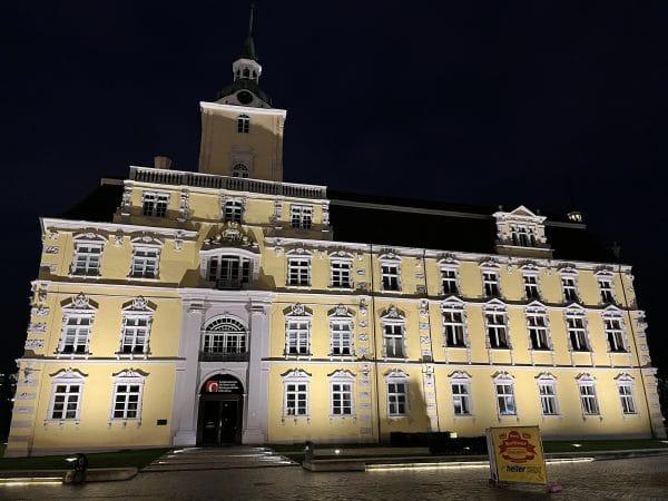 Das Oldenburger Schloß bei Nacht